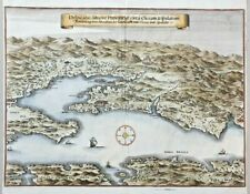 1652 MERIAN ORIGINAL MAP OF SPLIT SPALATO KLIS CLISSA CROATIA COLORED DALMATIA