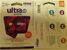 Ultra Mobile DUAL SIM  Preloaded W/ $19 Prepaid Unlimited Monthly Plan Included