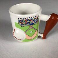 Baseball Bat Handle Coffee Mug VTG Drink 3D Ball Cup Kids Cocoa Dad Father's Day