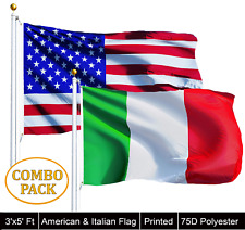 Wholesale Lot 3' X 5' Usa American & 3' X 5' Italy Flag Italian Pride Banner