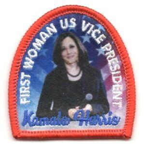 FIRST WOMAN U.S. VICE PRESIDENT KAMALA HARRIS Iron On Patch Title