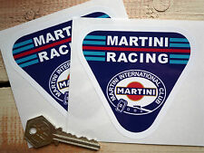 MARTINI RACING 100mm Pair Classic Race Car STICKERS International Club Porsche