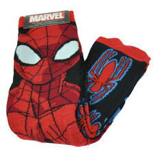 Marvel Spiderman Superman 2 Pairs Long Socks Mens Shoe Size 6-12 Black Red