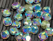 8mm 50Pcs High Quality Glass Cystals Clear Ab Fat Square Nail Art Jewelry Diy