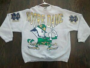 Vintage Notre Dame Fighting Irish Sweater Mens 2XL by TSI