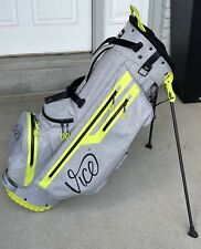 New listing Vice Golf Force Stand Bag Professional Outdoor Ultralight Carbon Grey Neon Lime