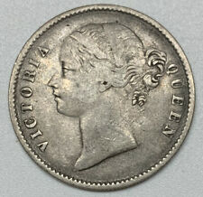 1840 East India Company One Rupee F Fine Silver Coin (Scratch)
