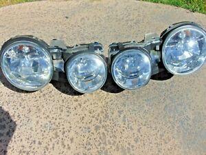 00-08 Jaguar S-Type Headlights Halogen Restored Lenses New Mounts LH & RH Nice