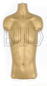 Male 3/4 Gold Hanging Body Shop Display Form Retail Mannequin
