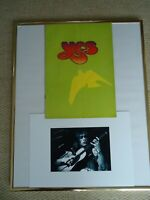 YES TOUR PROGRAMME RELAYER 1975 UK STEVE HOWE JON ANDERSON +GRYPHON + 2 IMAGES !