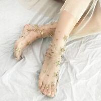 1 Pair Women Girl Glitter Thin Soft Star Sheer Mesh Tulle Socks Fishnet Hosiery