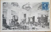 1918 Postcard: Biltmore Hotel Interior, Palm Court - New York City, NY