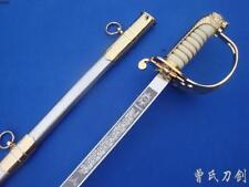 Hand Forge French Military Officer's Sword  Sword Stainless Steel  Alloy Fitting