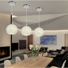 Silver pendant lights ebay kitchen pendant light bar lamp bedroom ceiling lights silver chandelier lighting aloadofball Gallery