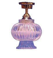 1/12 Streets Ahead Dolls House Crystal Lantern Shade Ceiling Light 12V DE189