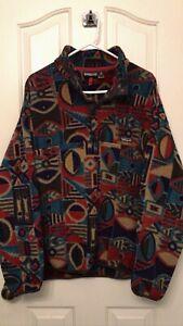 VTG Patagonia Mens Snap XL Rare Pullover FLEECE Synchilla 90's Aztec Shapes