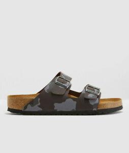 Men Birkenstock Arizona Soft Footbed Camo Print Slide Sandals NEW