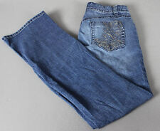 L.e.i. Ashley Trouble-Flare-Embellished-Boot Cut-Stretch Jeans Size 7 EUC
