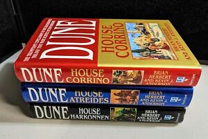 BRIAN HERBERT Prelude to Dune: House Trilogy Series HC 1st Ed