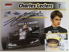 Charles Leclerc signed F1 Scuderia Ferrari VERY RARE Formula 3 official card A/5
