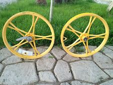 """BMX OLD SCHOOL Vintage Lester  20"""" Mag   Bike Wheel Set"""