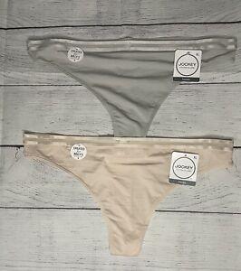 NWT 2 Jockey Women's Cotton Allure Thong panties size XL