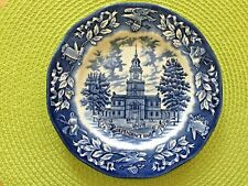 Avon Bicentennial Plate Independence Hall 1976 England By Wedgewood