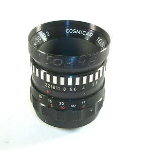 Cosmicar Television Lens 25mm 1:1.9 Japan 50062 C Mount