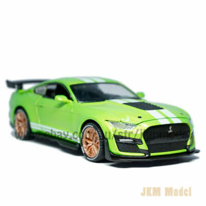 1:32 Ford Mustang Shelby GT500 Model Car Alloy Diecast Toy Vehicle Gift Green