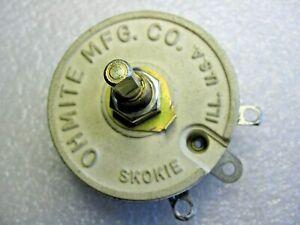 Ohmite Variable Resistor 50 ohm 50 Watt Potentiometer / Rheostat RJS50R  Model J