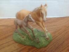 Franklin Mint World of the Horse Collection ~ Quarter Horse Mare & Foal Figurine