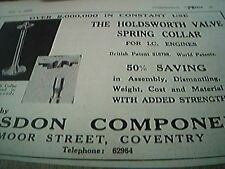 ephemera 1952 advert earlsdon components moor street coventry