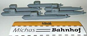 6 X u Boat Atom-u-Boot Nuclear Metal Ship Model 1:1250 % 08 Å