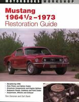 Mustang 1964 65 66 67 68 69 71 72 73 Restoration Guide Manual Vin Data Plates