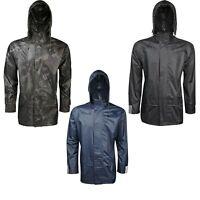 Adults Unisex Waterproof Rain Jacket Camo Black Pack away Womens Mens Ladies