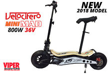 1000W 36V Electric Scooter, Velocifero Mini Mad, 2018 Model, Lithium Battery