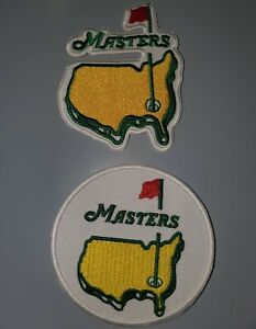 """LOT OF 2 """"THE MASTERS"""" GOLF EMBROIDERED IRON ON PATCHES"""