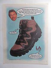 1995 Print Ad LA Gear Shoes Fashion ~ Joe Montana NFL San Francisco 49ers
