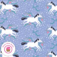Moda Enchanted 48251 16 Lavender Unicorns Gingiber Quilt Fabric Children'S