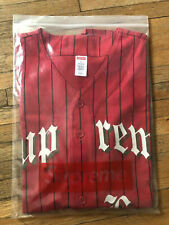 Supreme Love Hate Baseball Jersey Red Size Large