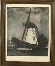 Paul Biesemann 1896 Rotterdam / Niederrheinische Mühle / Radierung, handsigniert