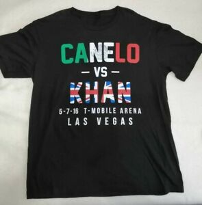 Canelo Alvarez vs. Amir Khan Shirt Las Vegas size Large T Mobile arena boxing