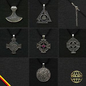 Kelten Halskette keltischer Schmuck Kreuz Spirale Triskele Odins Knoten keltisch