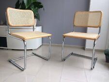 1 von 4 Stuhl Stühle Rattan Korbgeflecht Freischwinger 60s 70s