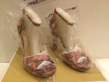 MICHAEL KORS DIVIA ANKLE STRAP EMBOSSED LEATHER PALE PINK SIZE 8.5M  4056DVHA1E