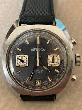 Orologio Cronografo date Imperios Valjour 7734 incabloc 17 rubis 37mm