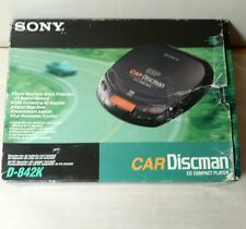 SONY D-842K Car Discman CD Player Super ESP AC/Car Power Adapters Vintage NEW