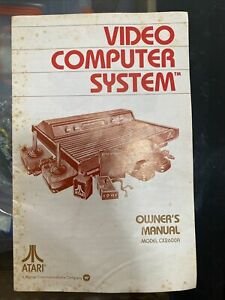 Atari 2600 CX2600A Woodgrain Video Computer System Owner's Manual ONLY
