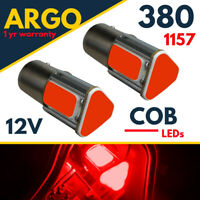 1157 Bay15d Led Red Bayonet 380 Car Cob Bulbs Fog Brake Stop Tail Light Smd 12v