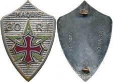 F.F.I, Maquis 80° Régiment d'Infanterie, émail, dos lisse, anneaux, Drago Déposé